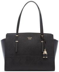 Guess Devyn Large Satchel Black