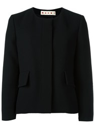 Marni Collarless Jacket Black
