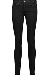 Vince Dylan Low Rise Skinny Jeans Black