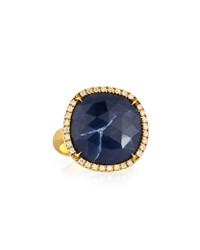 Marco Bicego Siviglia 18K Blue Sapphire Ring Large