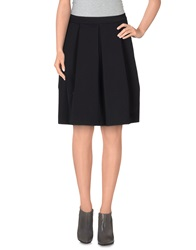 Alpha Studio Knee Length Skirts Black