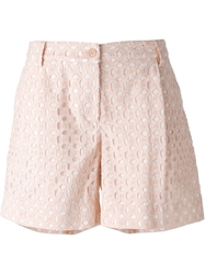 P.A.R.O.S.H. Broderie Anglaise Shorts Pink And Purple