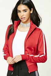 Forever 21 Striped Track Jacket Red