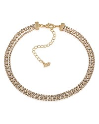 Abs By Allen Schwartz Pave Choker Necklace 12 Gold