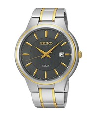 Seiko Sne404 Solar Two Tone Stainless Steel Bracelet Watch