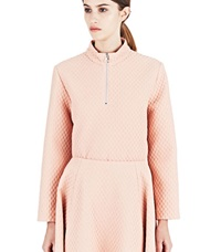 J.W.Anderson J.W. Anderson Circle Zip Up Sweater Pink