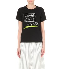 Chocoolate Easy To Say Cotton Jersey T Shirt Bkx