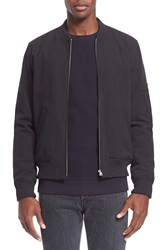 A.P.C. Cotton And Wool Ma 1 Bomber Jacket Anthracite