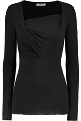 Bailey 44 Draped Jersey Top Black