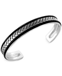 Effy Collection Effy Men's Woven Cuff Bracelet In Sterling Silver