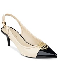 Tommy Hilfiger Jayla Pointed Toe Slingback Pumps Women's Shoes Natural