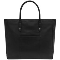 Reiss Timmer Grained Leather Tote Bag Black