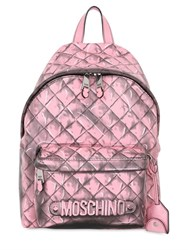 Moschino 3D Printed Leather Backpack