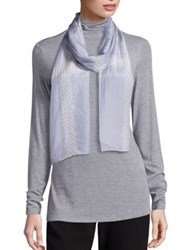 Eileen Fisher Silk Shibori Grid Scarf