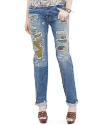 Denim And Supply Ralph Lauren Boyfriend Fit Patchwork Jeans