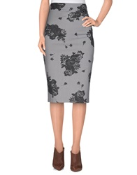 Denny Rose Knee Length Skirts Light Grey