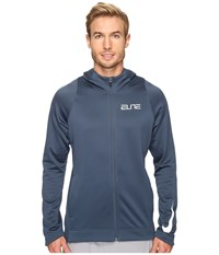 Nike Therma Elite Full Zip Basketball Hoodie Squadron Blue Squadron Blue White Men's Sweatshirt