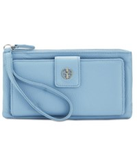 Giani Bernini Softy Leather Medium Grab And Go Wallet And Wristlet Only At Macy's Chambray