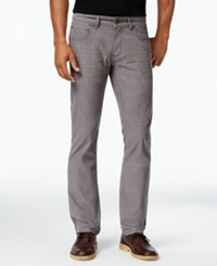 Inc International Concepts Men's Slim Fit Stretch Corduroy Pants Only At Macy's Grey Skies
