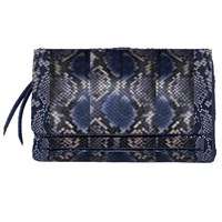 Carlos Falchi Soft Zip Clutch Denim