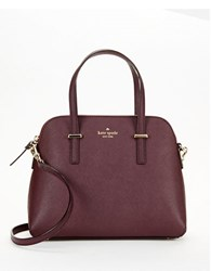Kate Spade Maise Leather Dome Bag Mahogany