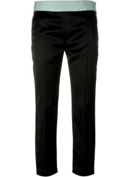 Haider Ackermann Grosgrain Waistband Trousers Black