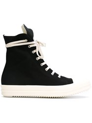 Rick Owens Drkshdw Side Zip Hi Tops Black