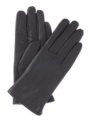 Isotoner Three Point Leather Glove Black