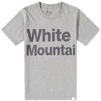 White Mountaineering Logo Print Tee Grey