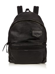 Saint Laurent Leather Backpack Black Multi