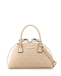 Catherine Catherine Malandrino Fiona Quilted Dome Satchel Bag Tan