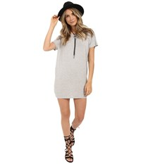 Obey T Back Tunic Heather Grey Women's Blouse Gray