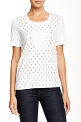 Joan Vass Studded Short Sleeve Tee White