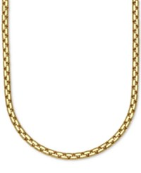 Macy's Large Rounded Box Link Chain Necklace In 14K Gold