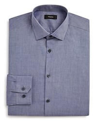 Theory Chambray Solid Regular Fit Dress Shirt