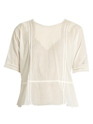 The Great Manor Lace Insert Top Ivory