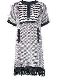 Thakoon Textured Knit Tunic Blue