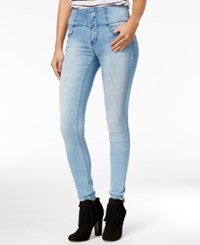 Rampage Juniors' Wes High Rise Super Skinny Jeans Spring Wash