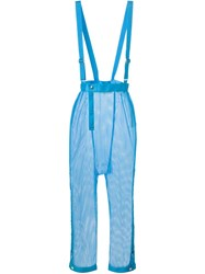 Issey Miyake Vintage Netted Trousers Blue