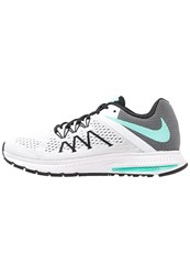 Nike Performance Zoom Winflo 3 Neutral Running Shoes White Hyper Turquoise Black