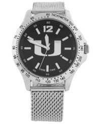 Game Time Miami Hurricanes Cage Series Watch Silver Black