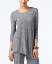 Alfani Printed Asymmetrical Tunic Top Only At Macy's Grey Jaspe