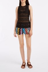Missoni Chevron Tank Top Black