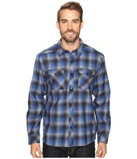 Icebreaker Lodge Long Sleeve Flannel Shirt Pelorus Stealth Fossil Men's Clothing Navy