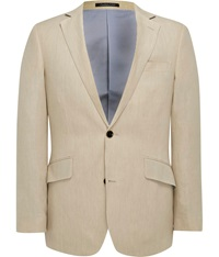 Austin Reed Contemporary Fit Linen Jacket Beige