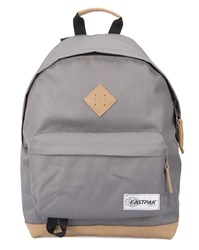 Eastpak Grey Wyoming Backpack With Leather Details