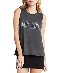 Bcbgeneration Graphic Muscle Tank Heather Charcoal