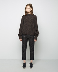 Isabel Marant Calista Quilted Leather Pant Black