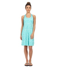Columbia Prima Agua Dress Geyser Tulips Print Women's Dress Blue