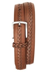 Men's Tommy Bahama Braided Inlay Leather Belt
